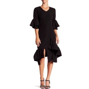 NWT Garcia Ruffle Black Dress